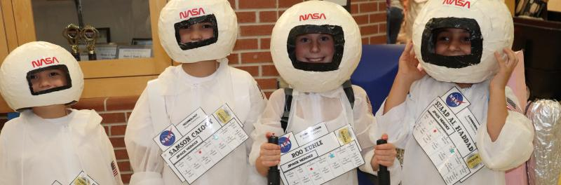 Students in NASA gear