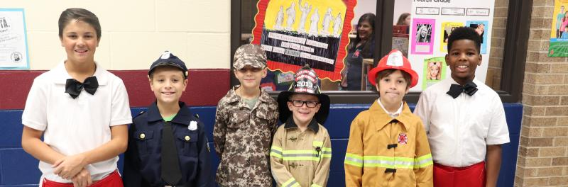 Timberwilde students at First Responders breakfast