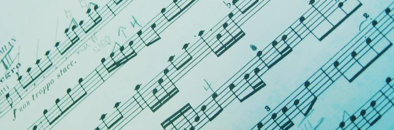Picture of music notes.