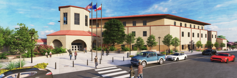 Rendering of the future John Marshall High School