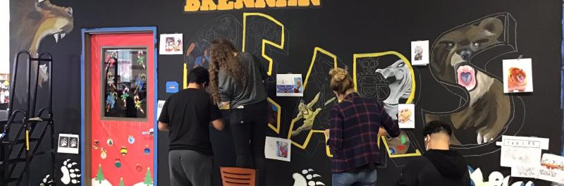 Brennan Library Gets a New Mural