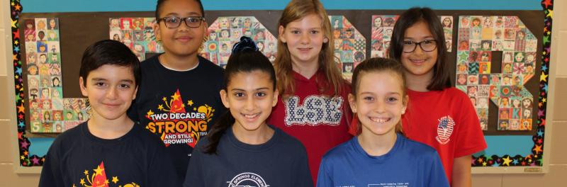A group of 5th grade student council officers