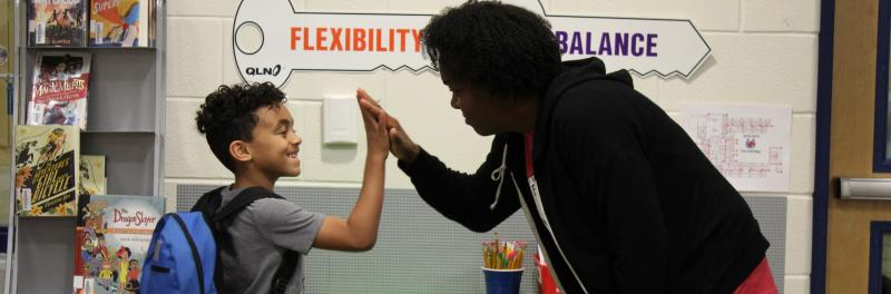 KFE volunteers help students be encouraged to follow the keys to excellence