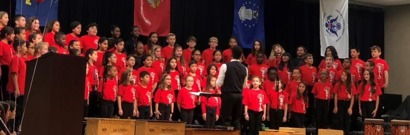 Photo of a Mireles Elementary Choir Performance