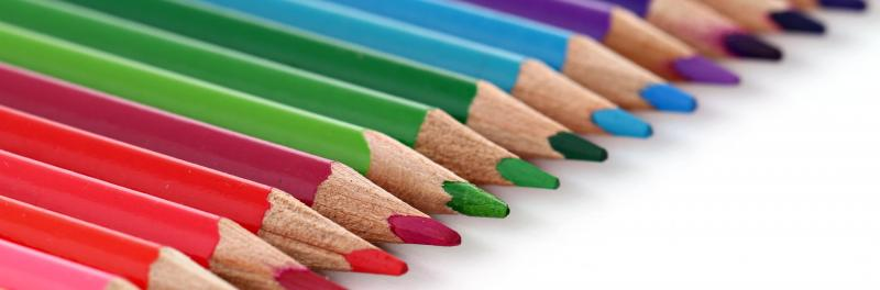 Color Pencils used in the classroom