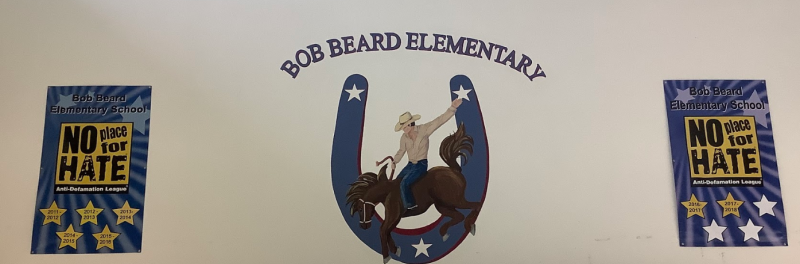 Picture of Bob Beard mural in front foyer
