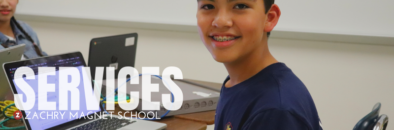 Services- Zachry Magnet School, student at computer