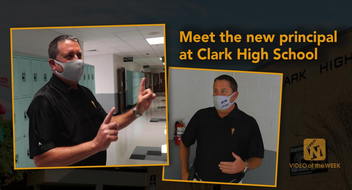 Meet the new principal at Clark High School with two pictures of Principal Steve Zimmerman