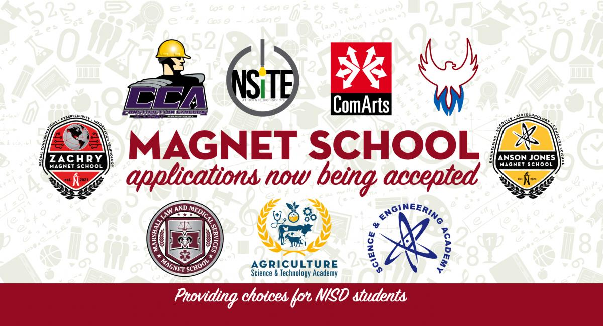 Magnet school applications now being accepted with 9 magnet school logos