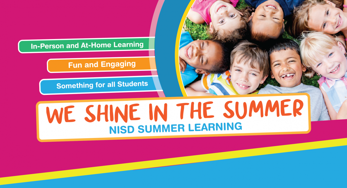 Summer School A time to shine with kids picture in a circle