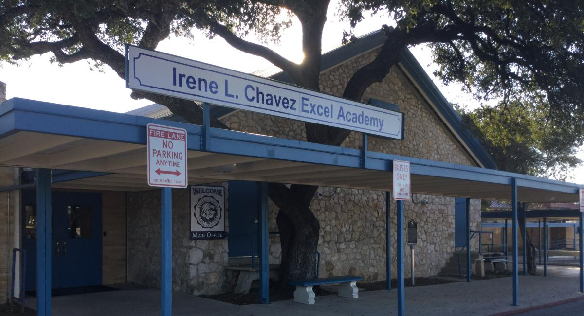 Image of front entrance to Irene Chavez Excel Academy