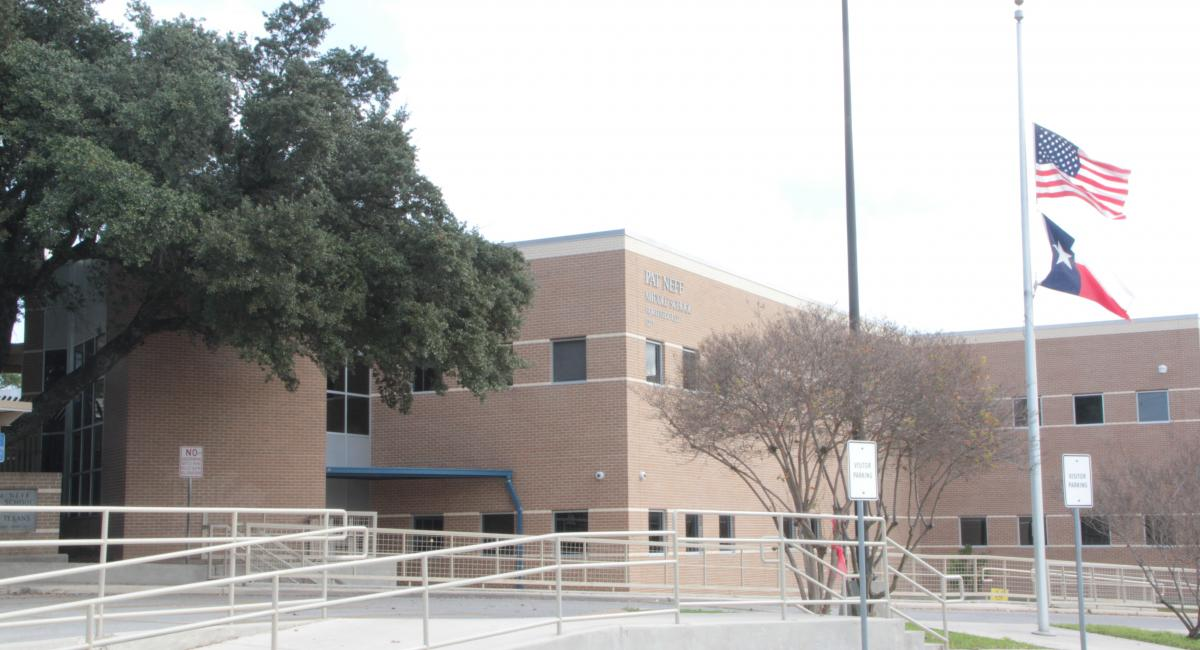 Front of Pat Neff Middle School