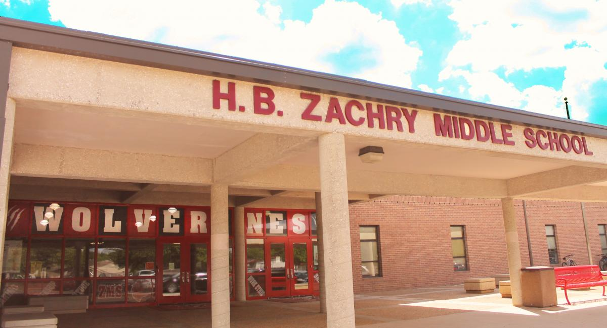 Zachry Middle School front of building