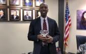 Trustee Bobby Blount was presented an award on behalf of the Texas Caucus of Black School Board Members recognizing his 10 plus years of service as an officer to the organization.