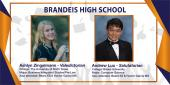 photo collage featuring pics of Brandeis HS Valedictorian and Salutatorian