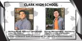 Photo collage featuring pics of the Valedictorian and Salutatorian from Clark HS