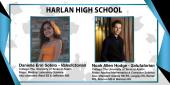 Photo collage with pictures of the Harlan HS Valedictorian and Salutatorian