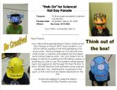 Flyer of Science Hat Parade, March 28