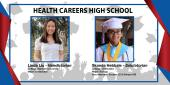 Photo collage of Health Careers HS Valedictorian and Salutatorian