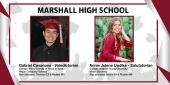 Photo collage of Marshall HS Valedictorian and Salutatorian