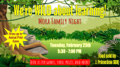 Flyer of Family Night at Mora ES, Feb. 25th at 5:30 - 7:00 PM