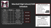 Marshall High School / LMS Schedule