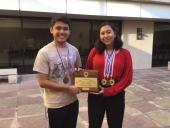 Pictured are Ruben Andrade and Sabrina Fielden from Stevens HS.