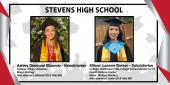 Photo collage for Stevens HS Valedictorian and Salutatorian