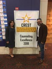 Stinson MS counselors Linda Boyett and Johnny Anzaldua (not pictured Chris Benavidez)